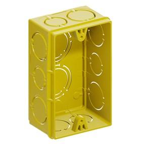 Caixa de luz 4x2 Tigreflex amarela