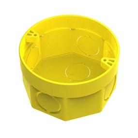 Caixa de luz octogonal 3x3 Tigreflex amarela