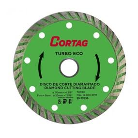 Disco diamantado p/ mármore/granito Turbo Eco Cortag