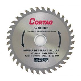 """Disco p/ corte de madeira 36D 4.3/8"""" 110mm"""