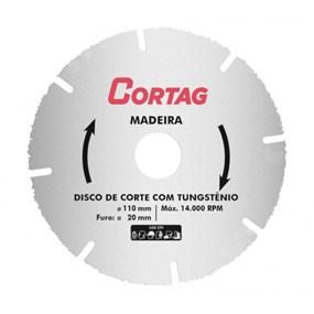 Disco p/ corte de madeira Cortag Tungstênio 110mm