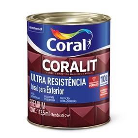 Esmalte sintético Coralit acetinado 0,9L branco