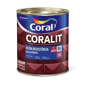Esmalte sintético Coralit alto brilho 0,9L Cinza Médio