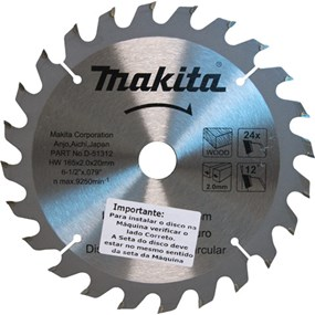 Lâmina de serra Makita 165mmx20mmx27 D- 51312