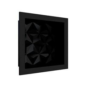 Nicho Cozimax 30x30 textura triangular preto