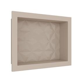 Nicho Cozimax 40x30 textura triangular bege