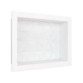 Nicho Cozimax 40x30 textura triangular branco