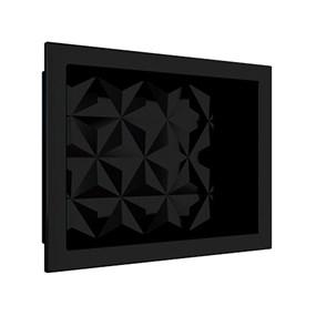 Nicho Cozimax 40x30 textura triangular preto