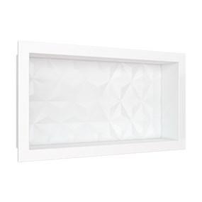 Nicho Cozimax 60x30 textura triangular branco