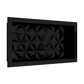 Nicho Cozimax 60x30 textura triangular preto