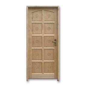 Porta torneada eco 210x80 lado esquerdo padrão imbuia