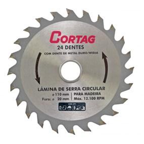 """Serra circular vídea 24D Cortag 7.1/4"""" 185mm"""