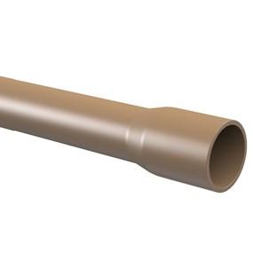 "Tubo marrom Tigre 50mm (1.1/2"") c/ 6m classe 15"